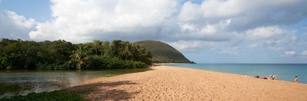 Belle plage à La Réunion